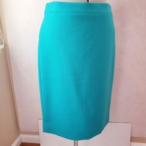 J crew pencil skirt in aqua